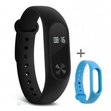 Xiaomi Mi Band 2 pulzusmérős fitneszkarkötő + ajándék kék szíj