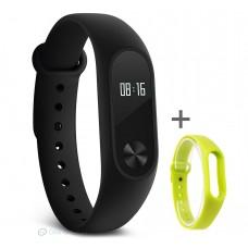 Xiaomi Mi Band 2 pulzusmérős fitneszkarkötő + ajándék neonzöld szíj