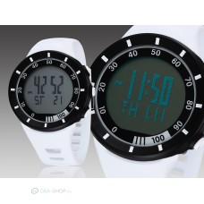 Ohsen LED kijelzős divatos sport karóra - fehér
