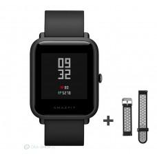 Xiaomi Amazfit Bip fitnesz okosóra GPS (EU verzió) - sötétszürke + ajándék fekete-szürke szíj