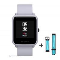 Xiaomi Amazfit Bip fitnesz okosóra GPS (EU verzió) - fehér + ajándék fekete-kék szíj