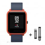 Xiaomi Amazfit Bip fitnesz okosóra GPS (EU verzió) - piros + ajándék fekete-szürke szíj