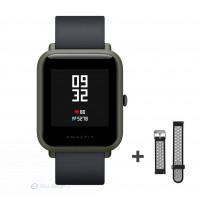 Xiaomi Amazfit Bip fitnesz okosóra GPS (EU verzió) - sötétzöld + ajándék fekete-szürke szíj