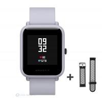 Xiaomi Amazfit Bip fitnesz okosóra GPS (EU verzió) - fehér + ajándék fekete-szürke szíj