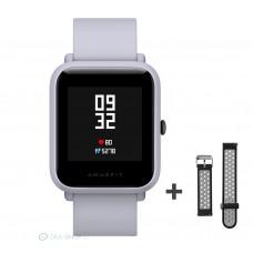 Xiaomi Amazfit Bip fitnesz okosóra GPS (EU verzió) - világosszürke + ajándék fekete-szürke szíj