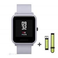 Xiaomi Amazfit Bip fitnesz okosóra GPS (EU verzió) - fehér + ajándék fekete-zöld szíj