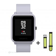 Xiaomi Amazfit Bip fitnesz okosóra GPS (EU verzió) - világosszürke + ajándék fekete-zöld szíj