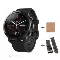Xiaomi Amazfit Pace 2 Stratos okosóra (EU verzió) + ajándék fekete bőrszíj és kijelzővédő fólia