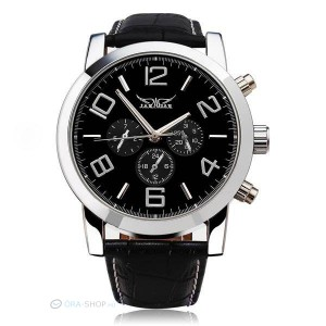 Jaragar elegáns normál méretű automata óra - fekete