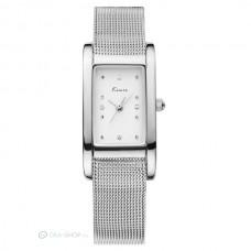 Kimio női szőtt fém szíjas karkötő óra - ezüst