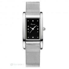Kimio női szőtt fém szíjas karkötő óra - fekete