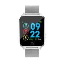 Microwear X9 szögletes vízálló okosóra pulzusmérővel - ezüst-fém