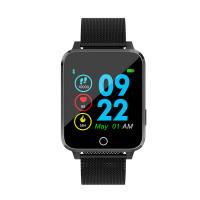 Microwear X9 szögletes vízálló okosóra pulzusmérővel - fekete-fém