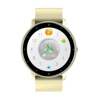 Smart Watch LZ02 pulzus és véroxigénszint mérős okosóra - törtfehér