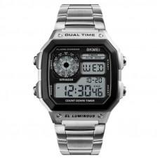 Skmei vízálló retro digitális LCD karóra - ezüst 9c4636d558