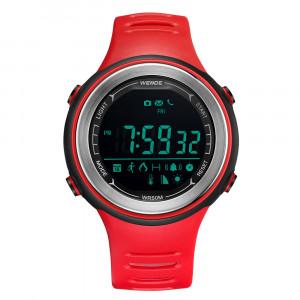 Weide aktivitásmérős vízálló sportóra Bluetooth modullal - piros