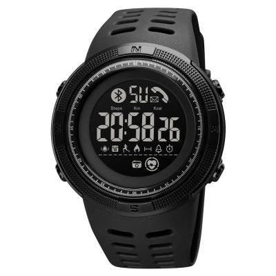 Skmei hagyományos LCD sport karóra pulzusmérővel okosóra funkciókkal - fekete
