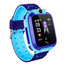Bakeey Q12 GSM 2G gyerek okosóra telefon funkciókkal kék színben