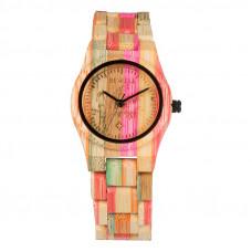 Bewell természetes bambusz női karóra világos árnyalatban 9234cef3a6