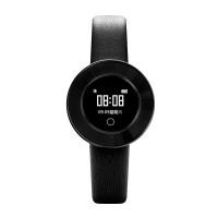 Microwear X6 ékszer okosóra csajoknak bőrszíjjal - fekete