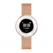 Microwear X6 ékszer okosóra csajoknak - rozé-arany