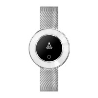 Microwear X6 ékszer okosóra csajoknak - ezüst