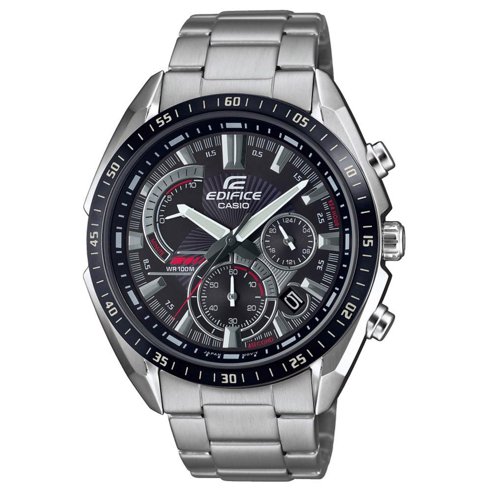 CASIO Edifice EFR-570DB-1AVUEF chrono fémszíjas karóra