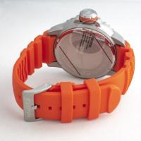 NAUTICA NAD18518G nagy méretű tengerész karóra narancs színű gumiszíjjal