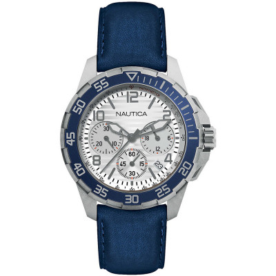 NAUTICA NAPPLH006 kék-fehér tengerész chronograph karóra
